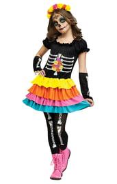 Детский костюм мексиканской Катрины