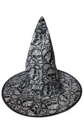 Детский колпак ведьмы с черепами