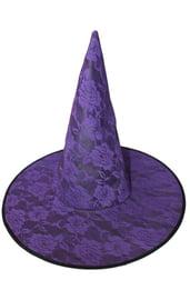 Фиолетовый колпак ведьмы с розами