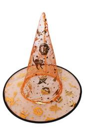 Детская оранжевая шляпа ведьмы