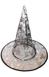 Детская шляпа ведьмы с черепами