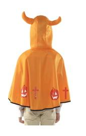 Детская оранжевая накидка с тыквами