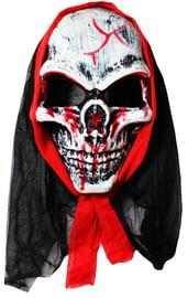 Маска кровавого скелета в капюшоне