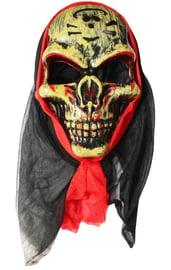 Маска злого черепа в капюшоне