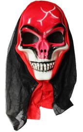 Маска красного черепа в капюшоне