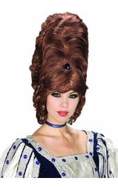 Каштановый высокий парик