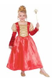 Детский костюм Принцессы в красно-золотом