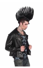 Черный парик Ирокез панка
