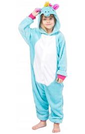 Детский Голубой Кигуруми Единорог