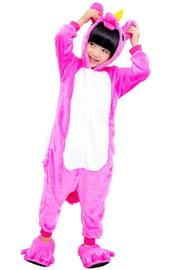 Детский кигуруми Ярко-розовый Единорог