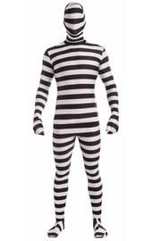 Зентай костюм Черно-белые полоски