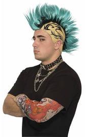 Парик Ирокез с татуировкой