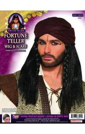 Черный парик с тюрбаном