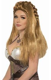 Светлый парик девушки викинга