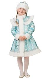 Детский бирюзовый костюм Снегурочки