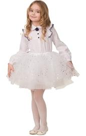 Детская белая юбка со звездочками