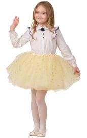 Детская желтая юбка со звездочками