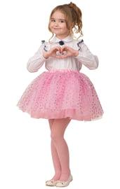 Детская розовая юбка с сердечками