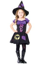 Детский костюм черно-фиолетовой ведьмочки