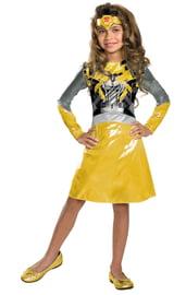 Детский костюм Девочки Трансформера Бамблби