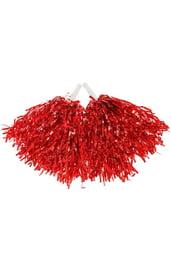 Красные гофрированные помпоны