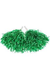 Зеленые гофрированные помпоны