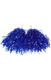 Синие гофрированные помпоны