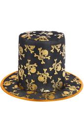Шляпа с золотистыми черепами