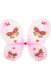 Крылья бабочки розовые с узорами
