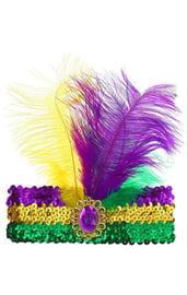Восточный головной убор с перьями