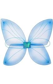 Детские голубые крылья бабочки