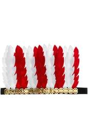 Красно-белый головной убор индейца