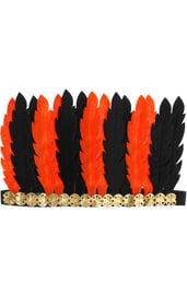 Оранжево-черный головной убор индейца
