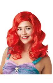 Взрослый красный парик Ариэль