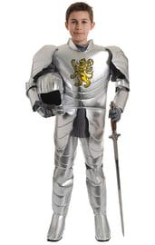 Детский костюм Рыцаря в серебристых доспехах
