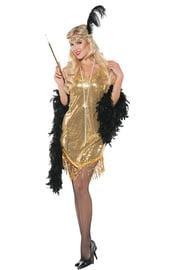 Женский золотой костюм в стиле Гэтсби