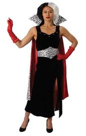 Взрослый костюм Круэллы де Виль