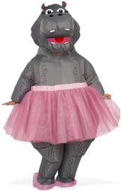 Взрослый надувной костюм Бегемота в юбке