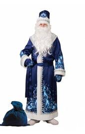 Взрослый синий костюм Деда Мороза