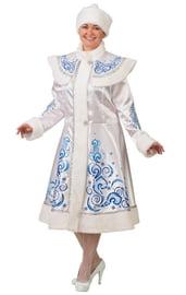 Взрослый белый костюм Снегурочки