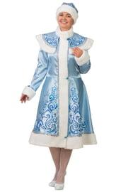 Взрослый костюм Снегурочки голубой