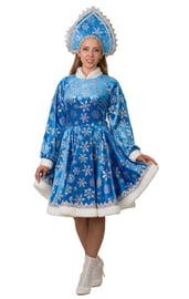 Взрослый голубой костюм Снегурочки Амалии