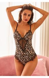 Леопардовое кружевное тедди