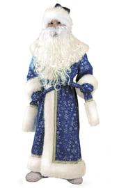Детский костюм Дедушки Мороза синий плюшевый