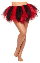 Черно-красная Туту юбка