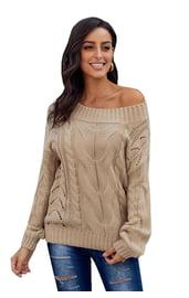 Вязаный бежевый свитер