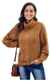 Теплый коричневый свитер