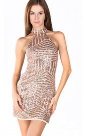 Золотое блестящее клубное платье