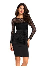 Черное платье с высокой талией