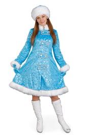 Взрослый костюм Снегурочки Снежинки